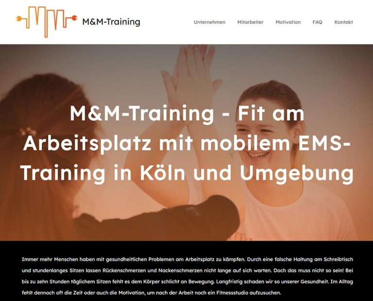 EMS-Trainings Website von Marion Martin in Köln